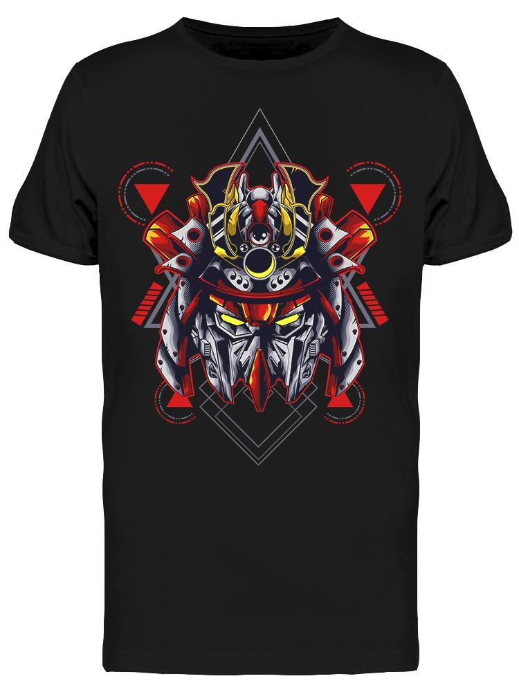 Red Mecha Head Robot Cartoon Tee Men's -Image by Shutterstock