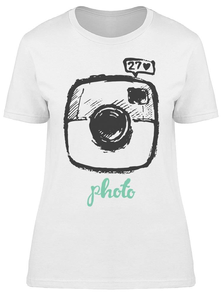 Hipster Photo Instant Camera Tee Women's -Image by Shutterstock