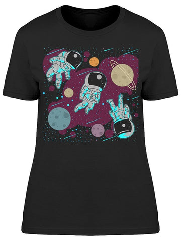 Astronauts Floating In The Space Tee Women's -Image by Shutterstock