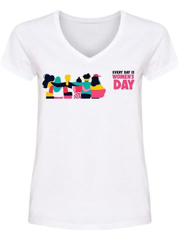 Everyday Women's Day United V Neck Women's -Image by Shutterstock