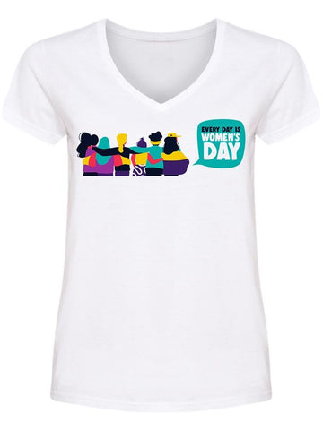 Everyday Women Day United V Neck Women's -Image by Shutterstock