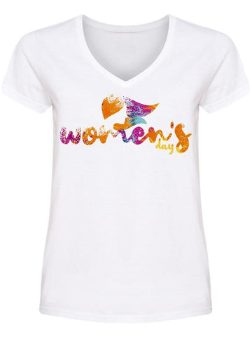 Colorful  Women's Day V Neck Women's -Image by Shutterstock