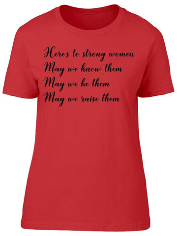 Motivation Feminist Quote Women  Tee Women's -Image by Shutterstock