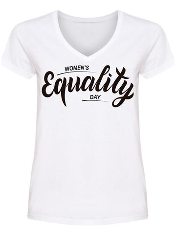 Women's Day Equality V Neck Women's -Image by Shutterstock