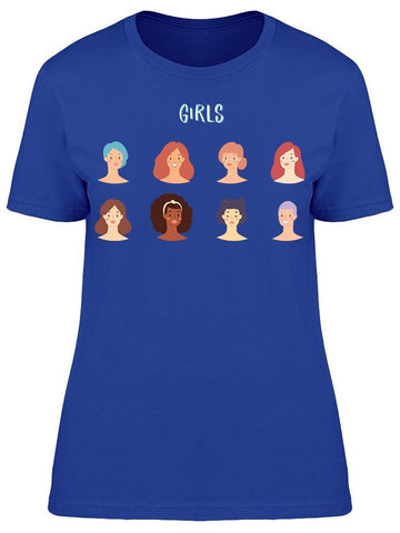 """girls"" Different Girls Tee Women's -Image by Shutterstock"