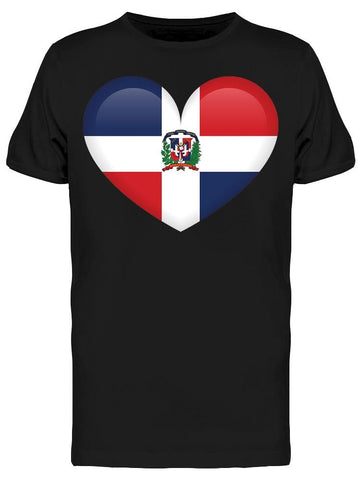 A Heart Of Dominican Flag Tee Men's -Image by Shutterstock