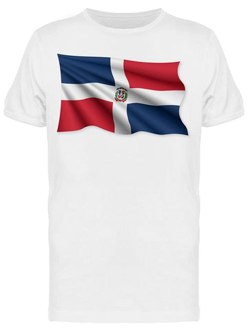 A Waving Dominican Flag Tee Men's -Image by Shutterstock