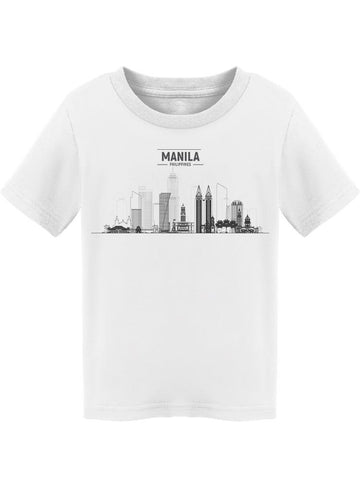 """manila"" City In Black/white Tee Toddler's -Image by Shutterstock"