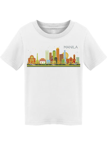 """manila"" City Colorful Tee Toddler's -Image by Shutterstock"