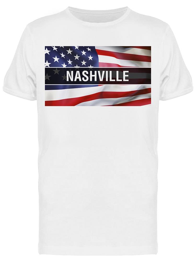 Nashville City Usa Flag Tee Men's -Image by Shutterstock