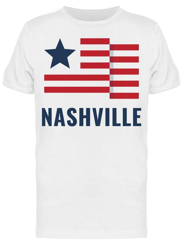 Nashville With Usa Flag Tee Men's -Image by Shutterstock