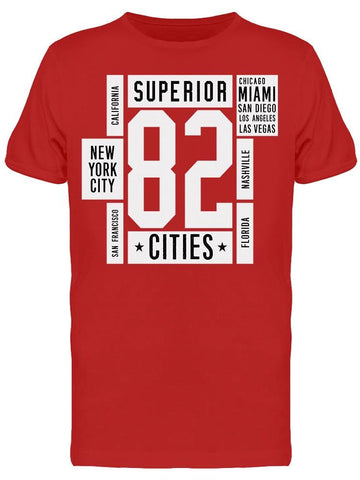 Superior 82 Cities Tee Men's -Image by Shutterstock