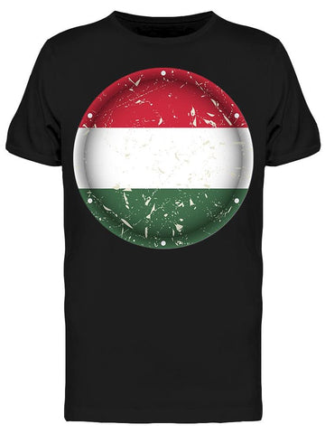 Hungary Scratched Flag Tee Men's -Image by Shutterstock