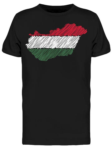 Hungary Map Hand Drawn Tee Men's -Image by Shutterstock