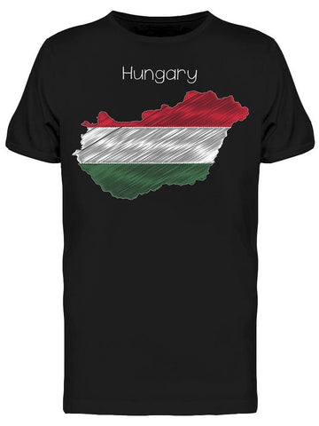 Hungary Map Flag Chalkboard Tee Men's -Image by Shutterstock