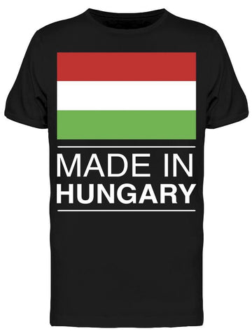 Graphic Made In Hungary  Tee Men's -Image by Shutterstock