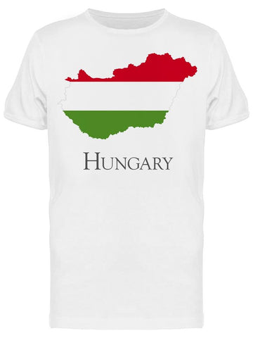 Hungary Flag Map Tee Men's -Image by Shutterstock