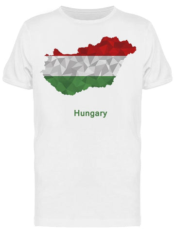 Hungary Flag Map Geometric Tee Men's -Image by Shutterstock