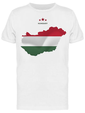 Hungary Map Waving Flag Tee Men's -Image by Shutterstock