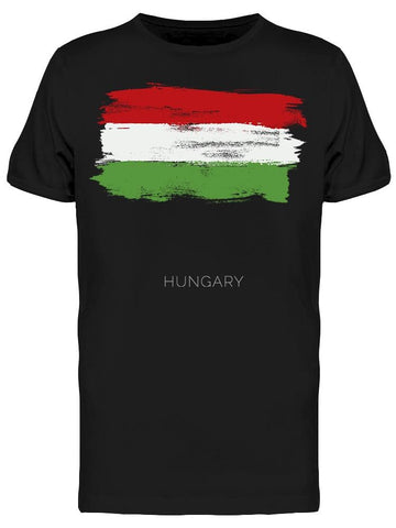 Hungary Colorful Brush Strokes Tee Men's -Image by Shutterstock