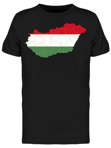 Map Of Hungary Art Tee Men's -Image by Shutterstock
