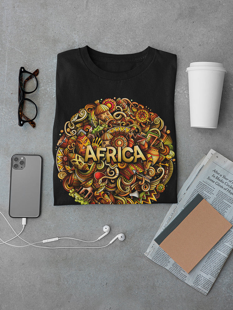 Cartoon Cute Doodles Africa Tee Men's -Image by Shutterstock