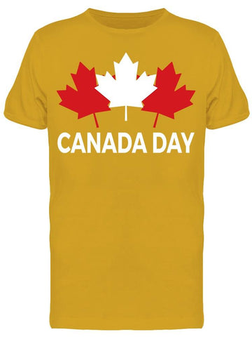 3 Maple Leaves, Canada Day Tee Men's -Image by Shutterstock