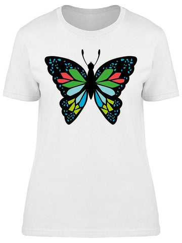 Beautifully Colorful Butterfly Tee Women's -Image by Shutterstock