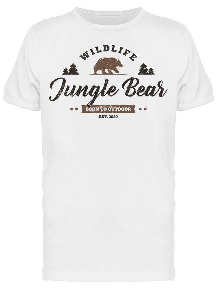 Bear  Outdoor Vintage Style Tee Men's -Image by Shutterstock
