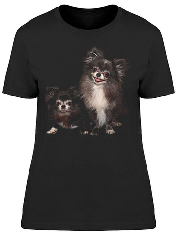 2 Happy Chihuahuas Tee Women's -Image by Shutterstock