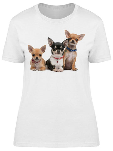3 Chihuahua Puppies Tee Women's -Image by Shutterstock