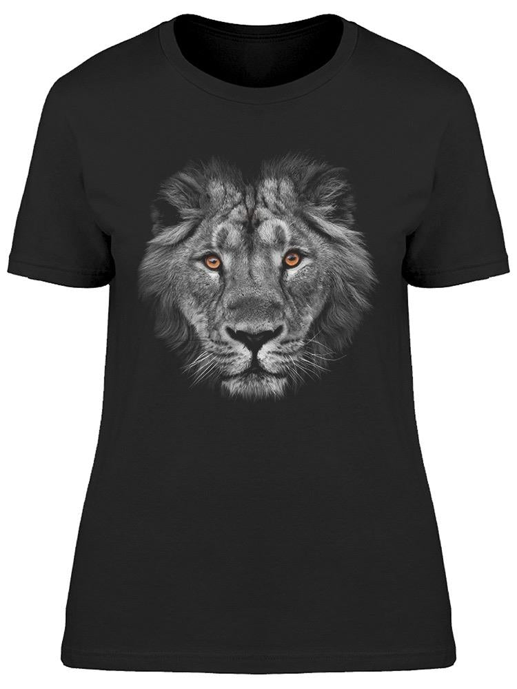 Beautiful Lion With Amber Eyes Tee Women's -Image by Shutterstock