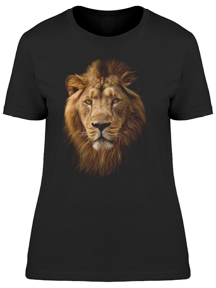 Calm Male Lion Tee Women's -Image by Shutterstock