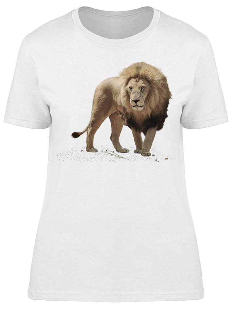 Large Male Lion Tee Women's -Image by Shutterstock