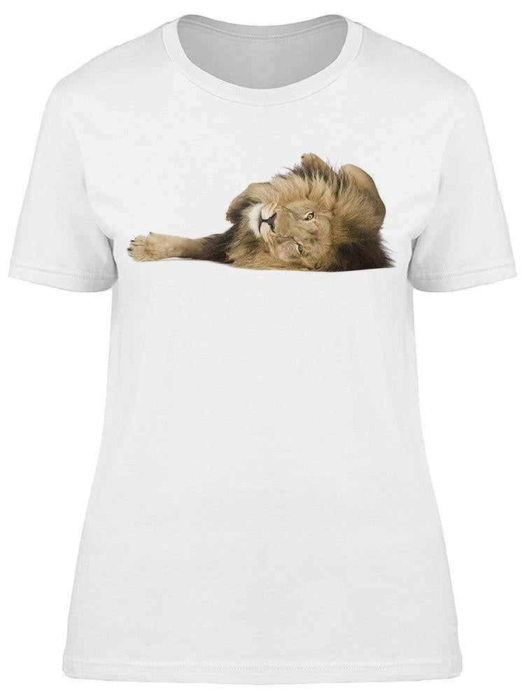 Cute Lion Playing Tee Women's -Image by Shutterstock