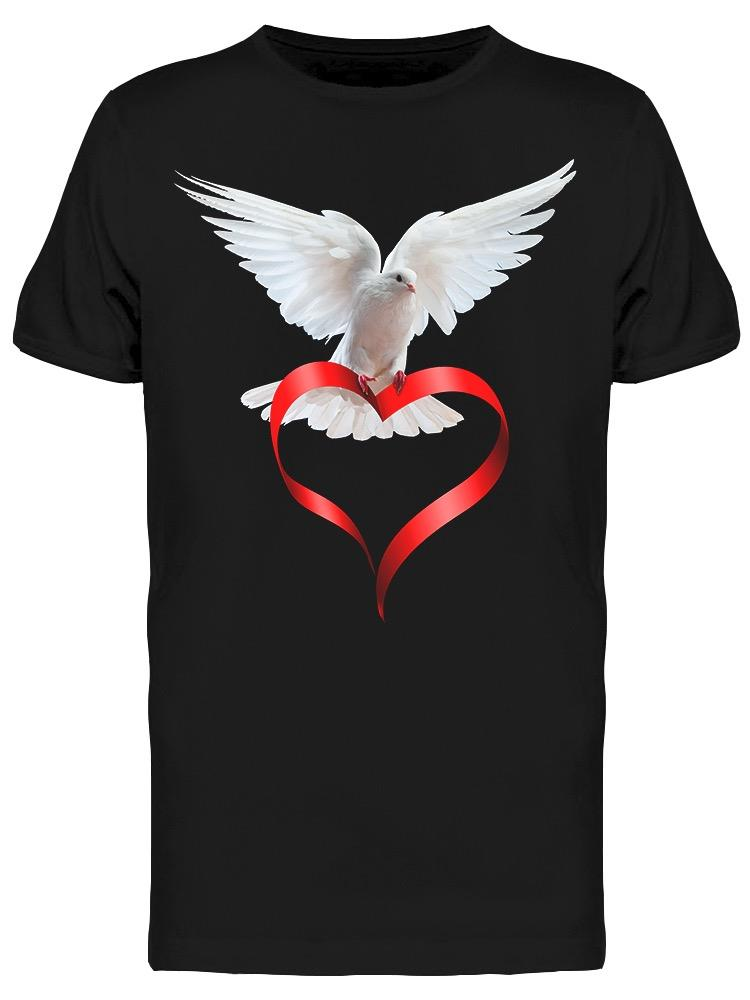 Bird Red Ribbon Tee Men's -Image by Shutterstock