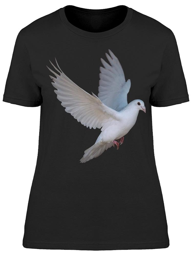 White Dove Flying Graphic Tee Women's -Image by Shutterstock