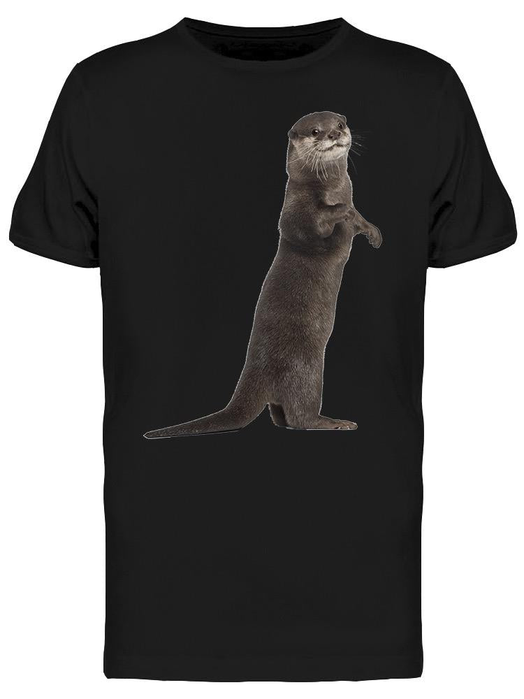 Cute Otter Is Watching You Tee Men's -Image by Shutterstock