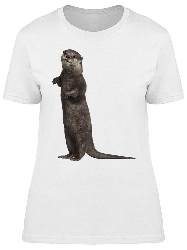 Pretty Otter Looking At You  Tee Women's -Image by Shutterstock