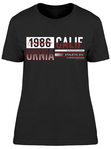 1986 California Athletic Div. Tee Women's -Image by Shutterstock
