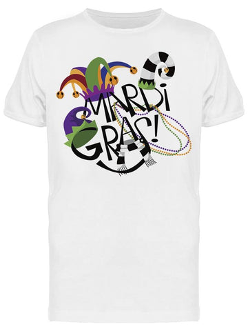 Mardi Gras Symbol With Hats Tee Men's -Image by Shutterstock