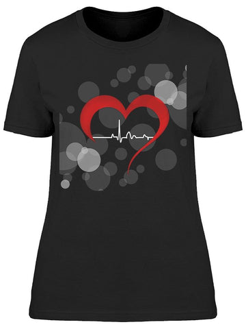 Heart And Heartbeat Symbol  Tee Women's -Image by Shutterstock