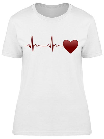 Heartbeat And Heart Symbol  Tee Women's -Image by Shutterstock