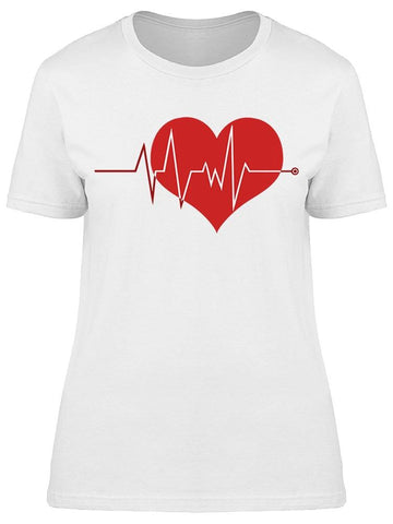 Ecg Graph With Heart Tee Women's -Image by Shutterstock
