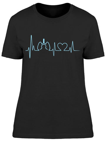 Heartbeat Made Of Hearts   Tee Women's -Image by Shutterstock