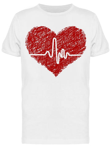 Heart With Electrogram Tee Men's -Image by Shutterstock
