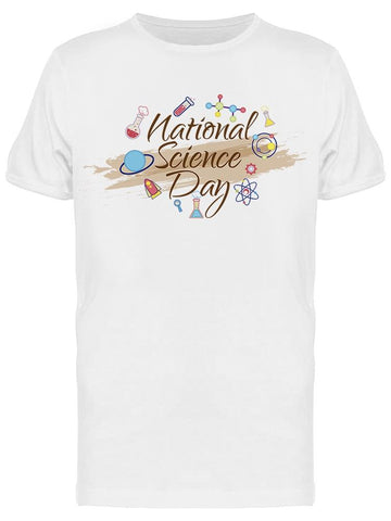 National Science Day In Cursive Tee Men's -Image by Shutterstock