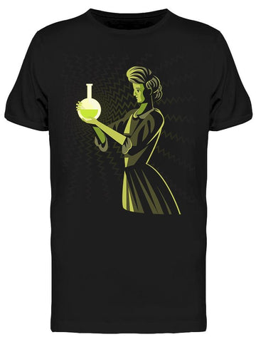 Marie Curie With A Flask Tee Men's -Image by Shutterstock