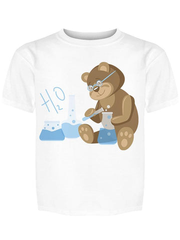 Teddy Bear As A Scientist Tee Girl's -Image by Shutterstock