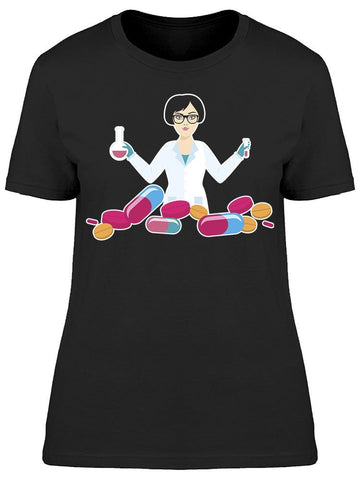 Pharmacist With Pills Tee Women's -Image by Shutterstock